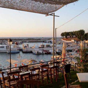 Tavernen am Hafen von Chania