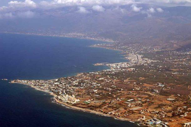Anissaras Luftaufnahme Kreta