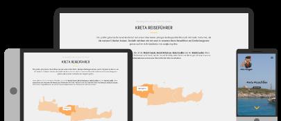 Reiseführer Kreta Reiseguru auf Smartphone, Tablet und Desktop