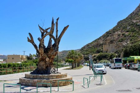 Anfahrt nach Matala Hippie-Baum