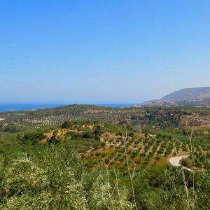 Der Ort Kournas (Dorf im Norden/Westen Kretas)