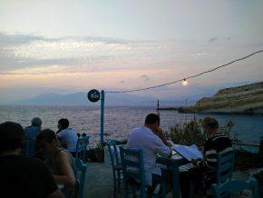 Taverna Sunset in Matala mit Sonnenuntergang