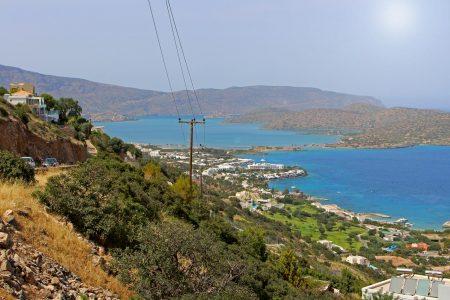 Blick auf Elounda, Kreta, Griechenland