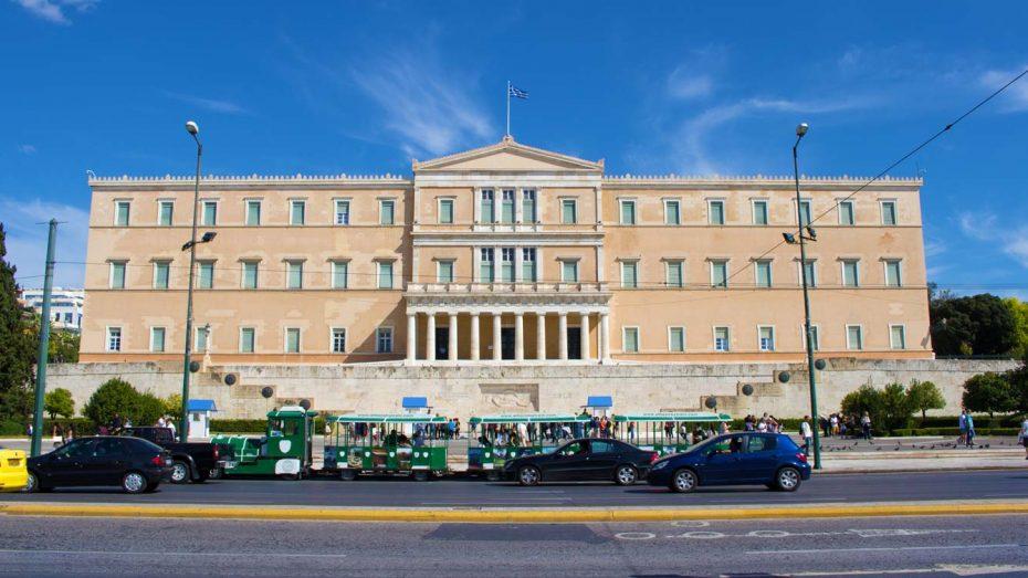 Kreta und Corona: Das Parlament in Griechenland